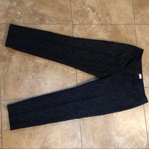 Shelli Segal Pants - Laundry by Shelli Segal LA, black brocade slacks